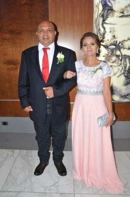 Los padres de la novia, Jorge Orlando Castro y Rosa Margarita Castro