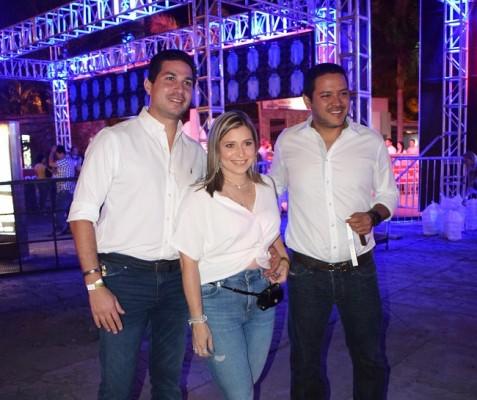 Luis Canahuati, Melissa de Canahuati y Luis Cervantes