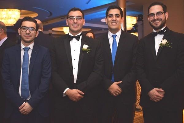 Mario Faraj Gabrie, Salvador Panayotti, Gabriel Mitri y Wendell Mejía.