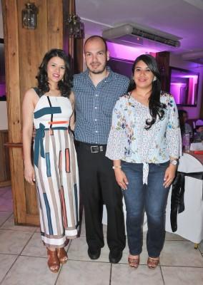 Mercy Orellana, Nahún Orellana y Lenny Banegas
