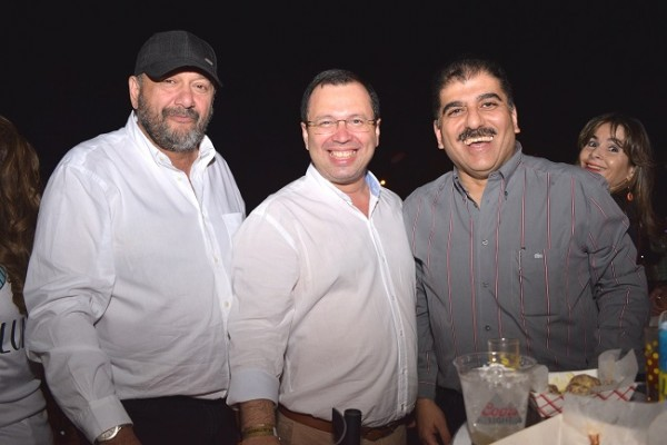 Nabil Khoury, Reynaldo Ekónomo y Jorge Faraj