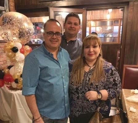 Norman Martínez, Raúl Bueso y Nancy Mejía