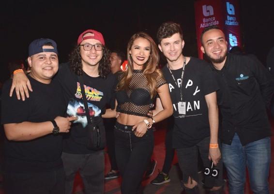 Adrián Flores, Allan Valeriano, Sinea David, Josué Cover y Óscar Zuniga.