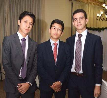 Alexander Durón, Emile Defago y Omar Barahona