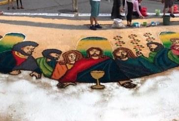La belleza de las alfombras de Comayagua en Semana Santa (+fotos)
