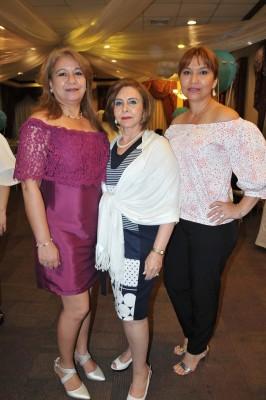 Esther Mejía, Norma Andonie y Guadalupe Mejía