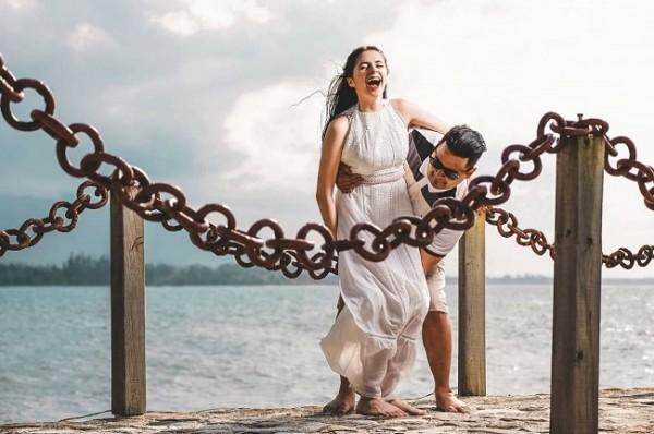 Howard Geovany Maldonado y Josseline Melissa Pineda en una divertida imágen espontánea para Farah La Revista