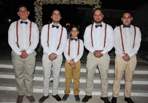 Los caballeros del cortejo de la boda Maldonado-Pineda