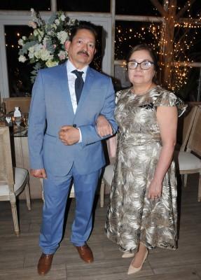Los padres del novio, Feliciano Maldonado López y Gloria Ismenia Maldonado