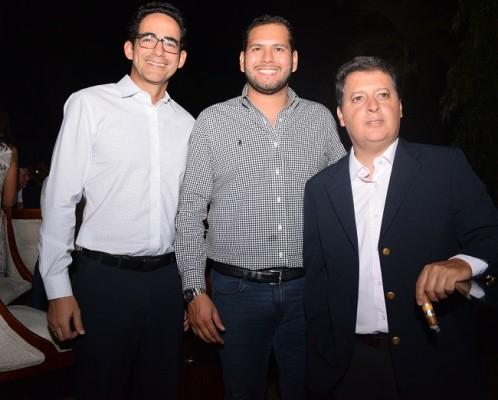 Mario Cerna, Carlos Munguía y Roberto Segura
