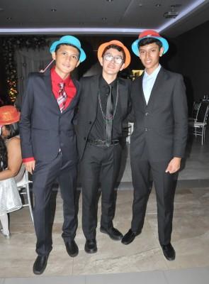 Marlon Aguilar, Eduardo Duarte y Kenneth Torres