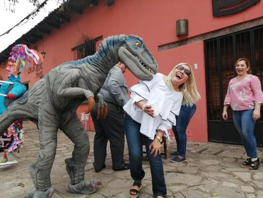 Miriam Torres pasandola a lo grande en Comayagua