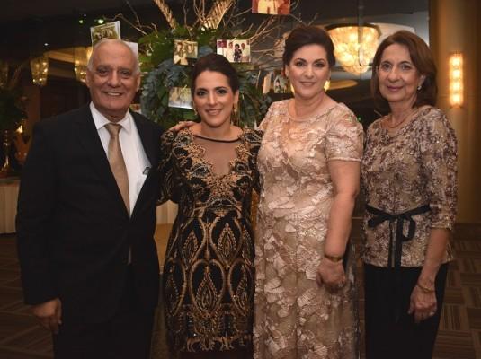 Nasry Kamal Handal, María Isabel de Zablah, Heam Jarufe de Handal y Mireya de Zabla