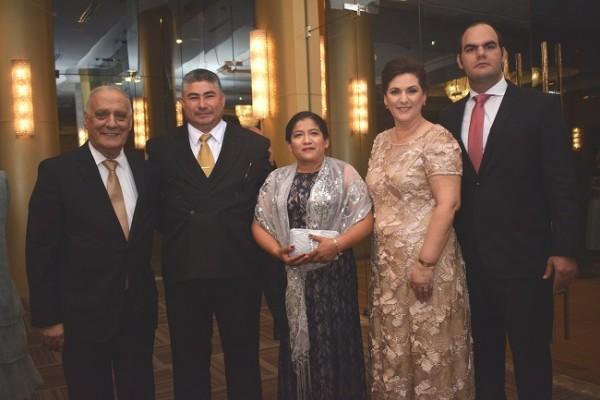 Nasry Kamal Handal, Neal Zacarías Molina, Lourdes Campos, Heam Jarufe de Handal y Miguel Ángel Handal.