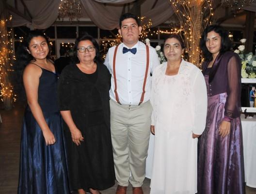 Solangel Martell, Vilma Salinas, Ever Mejía, Marlen Jiménez y Marlen Maldonado