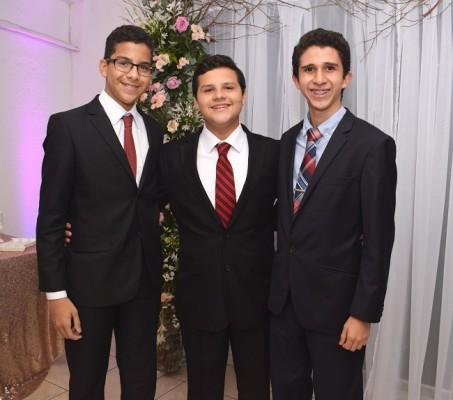 William Justiniano, Andrés Bardales y Marcos Hawit