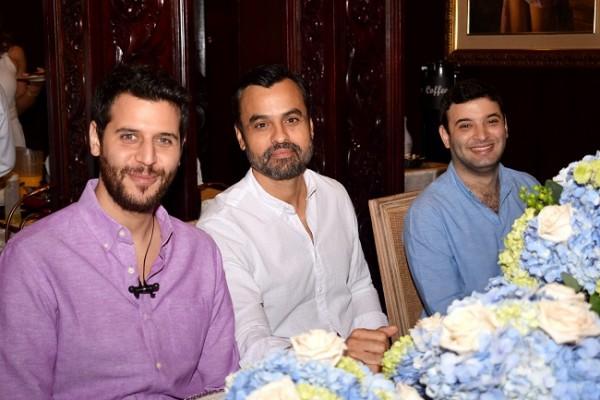 Andrés Larach, Carlos Moreira y Rodrigo Larach