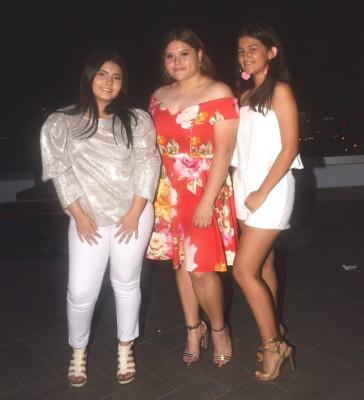 Cielo Barahona, Michelle Canizales y Ariana Arriaga