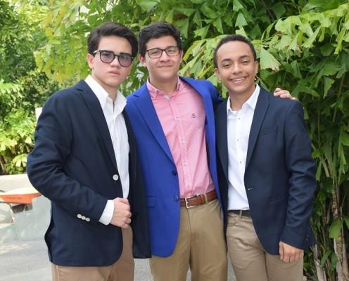 Daniel Sosa, Marcio Discua y Claudio Venegas
