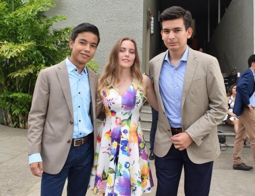 Eduardo Meléndez, Eleonora Unfer y Axel Hernández
