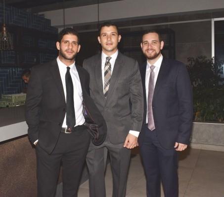 Fernando Bendeck, Daniel Pitsikalis y Jorge Vitanza.