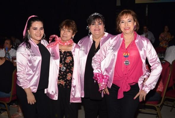 Janie Charry, Dora Mejía, Patricia Raudales y Margarita Lara.