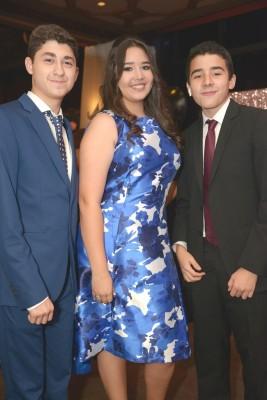 José Villela, Angie Faraj y Gustavo Sabillón.