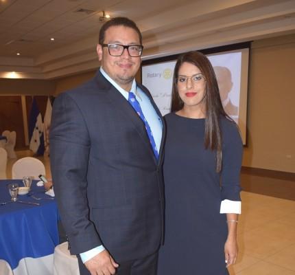 Juan Euceda y Alexandra Cruz