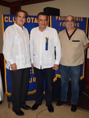 Julio Grazioso, Ramón Fuentes y José Interiano.