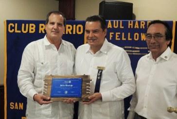 Club Rotario San Pedro Sula declara socio honorario a Julio Grazioso