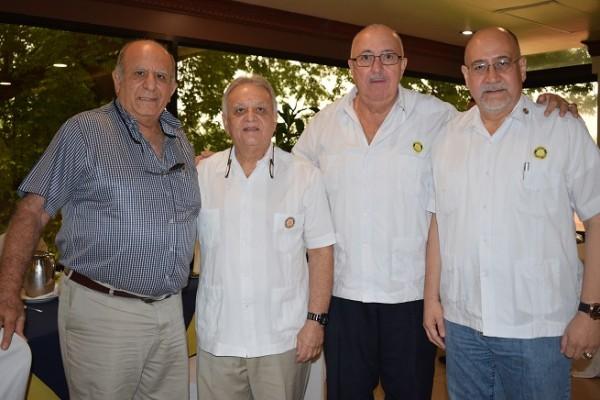 Jack Kattán, Carlos Bueso, Jorge Sikaffy y Héctor Aguilar.