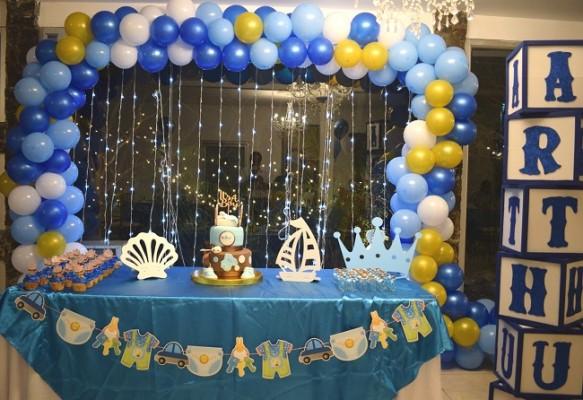 La tierna decoración del baby shower dedicado a Noren, encantó a todas las selectas invitadas por igual