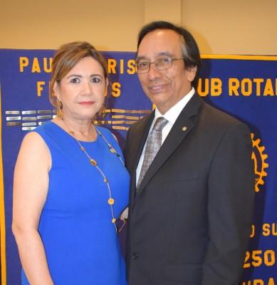 Liseth y Víctor Manuel Rodríguez.