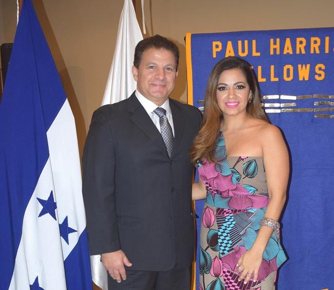 Jesús Canahuati y Andrea Díaz de Quintana reciben Reconocimiento Socio Paul Harris