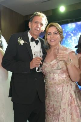 Los padres de la novia, Issa y Wafa Zgheibra.
