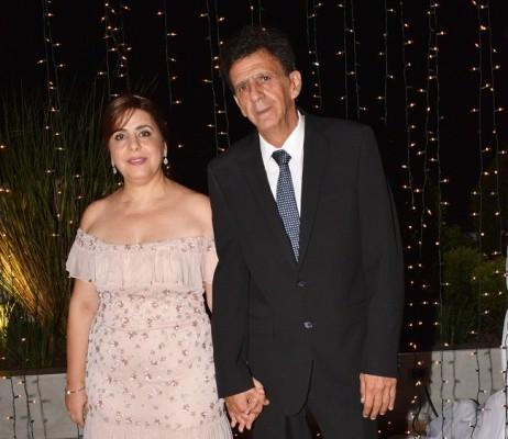 Los padres de la novia, Wafa e Issa Zgheibra.