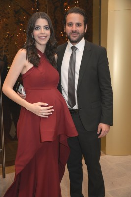 Los padrinos de bodas, David Monterroso y Andrea Zgheibra
