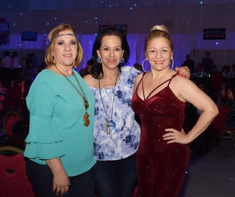 Martha Handal, Lorette Kawas y Paty Bonilla.