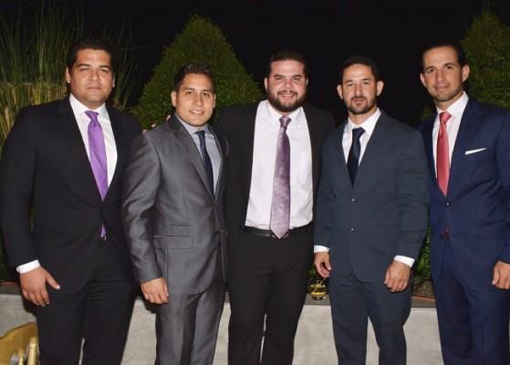 Maynor Valle, Jorge Larach, David Kattán, Lisandro Mejía y Emilio Canahuati.