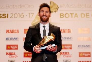 Messi gana su sexta Bota de Oro como máximo goleador del fútbol europeo