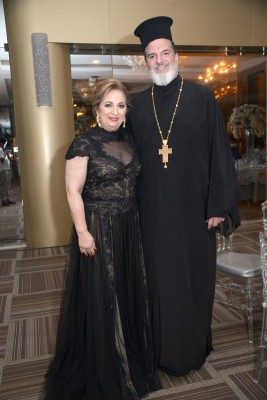 Padre Jorge Faraj y Yolanda Ganineh.