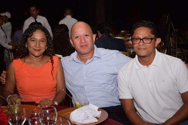 Zulma Thomas, Pedro González y Walter Méndez.