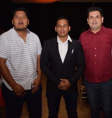 Víctor Carranza, Ronny Ortiz y Geovanny Gallo