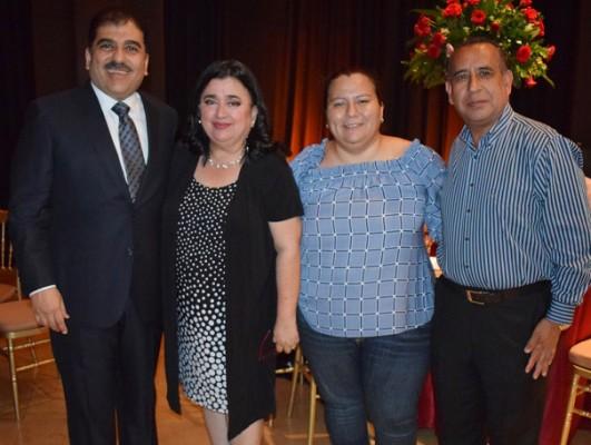 Jorge Faraj, Luisa Agüero, Carolina Torres y Orlando Escoto.