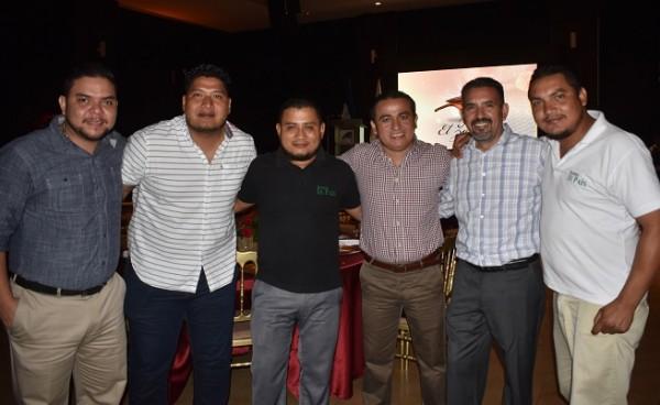 Miguel Matute, Víctor Carranza, Keyvin Mejía, Elvin Landaverde, Luis Caballero y Wilmer Argueta.