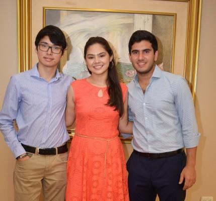 Sebastian Zuniga, Fernanda Zerón y Yaudet Burbara