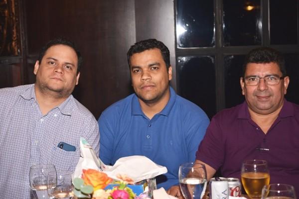 Alfredo Romero, Manuel Castro y José Merardo Salinas.