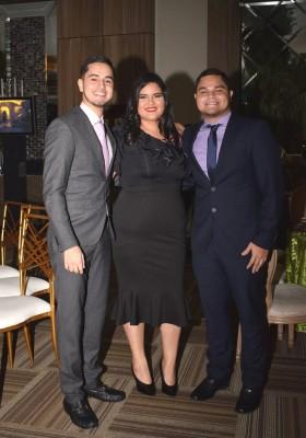 Brayan Aguilar, Karla Martínez y Leonel Aguilar