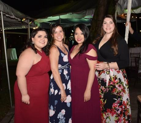 Claudia Salgado, Katryna Koattini, Alicia Rivas y Lorena Dixon