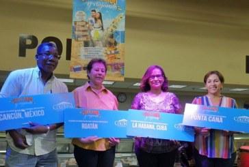 """Supermercados Colonial realiza sorteo de la promoción """"Canjeando y viajando"""""""